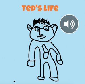 Front cover of Ted's ebook made in Book Creator
