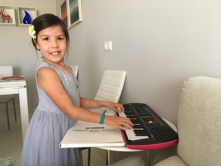 Ruby playing piano