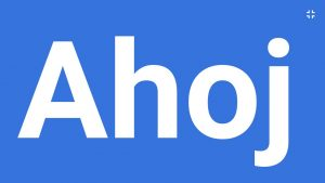 picture of word 'ahoj'