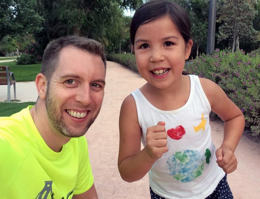 Roobs and dad go running