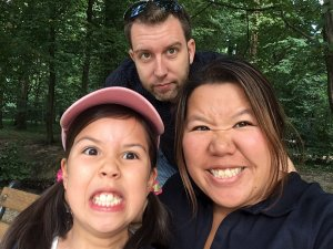 Dan, Suewan and Roobs in Zagreb - silly faces