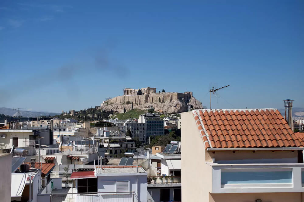 View from the balcony in Athens