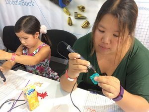 3D pens at the Mini Maker faire