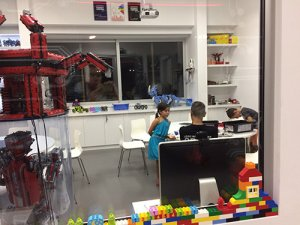 At the Lego Mindstorms workshop