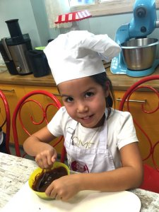 Roobs at her cooking class in Glyfada