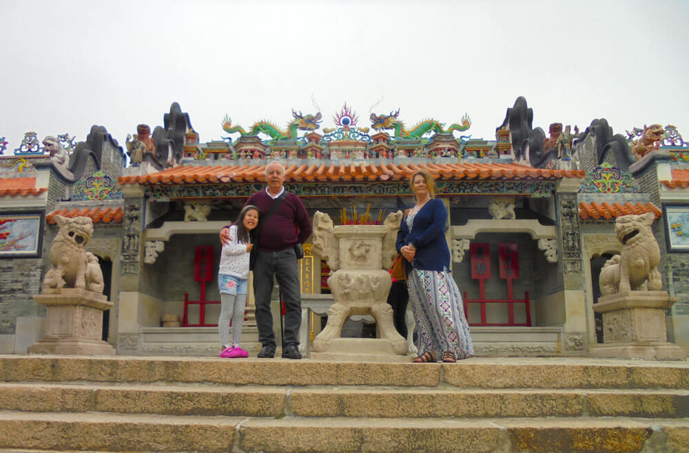 Outside a temple in Cheung Chau