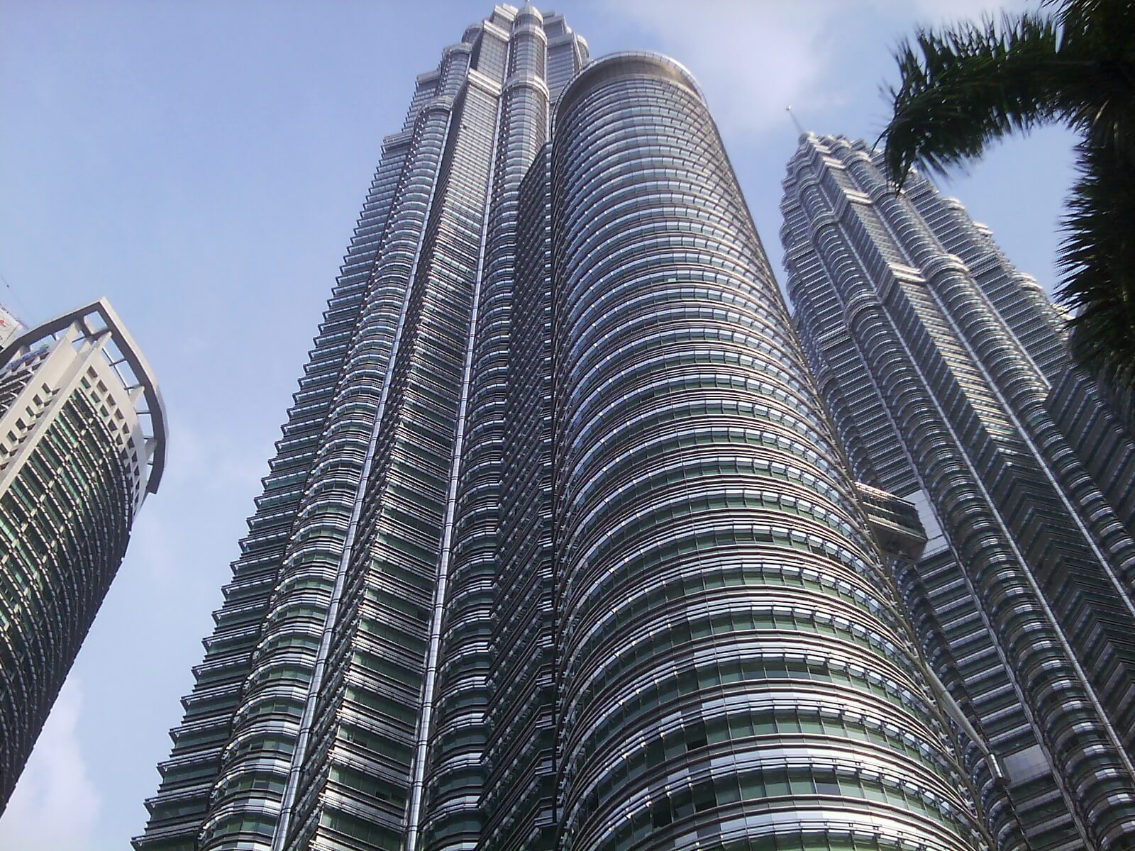 Picture of petronas towers taken from underneath
