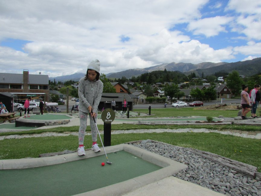 Roobs playing crazy golf