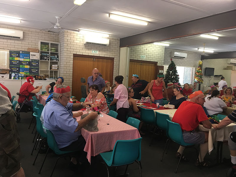 Christmas day at the soup kitchen
